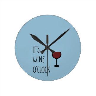 Wein-Uhr Runde Wanduhr