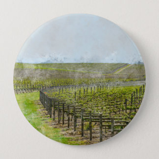 Wein-und Trauben-Dekor Runder Button 10,2 Cm