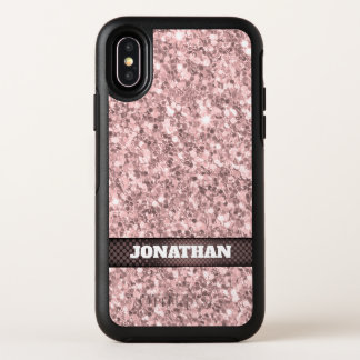 Weinbrand-Rosen-Glitzer-Muster OtterBox Symmetry iPhone X Hülle