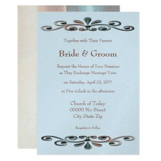 Weinbrand-Rosen-Verzierungs-Hochzeit Karte