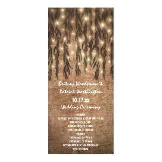 Weinende Weide-Baum-Vintage Hochzeits-Programme Werbekarte