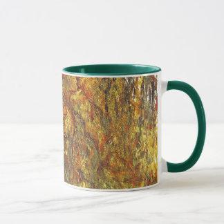 Weinende Weide durch Claude Monet, Vintage feine Tasse