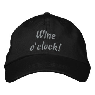 Weinuhr! Lustiger gestickter Hut Besticktes Baseballcap