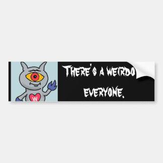Weirdozoid - es gibt einen Weirdo in jeder Autoaufkleber
