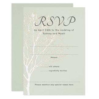 Weise Baum UAWG Natur-Hochzeits-Antwort-Karten Karte