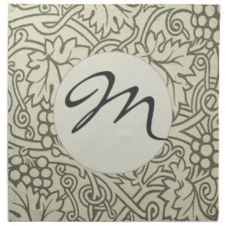 Weises Grün Grapevile William Morris Muster Serviette