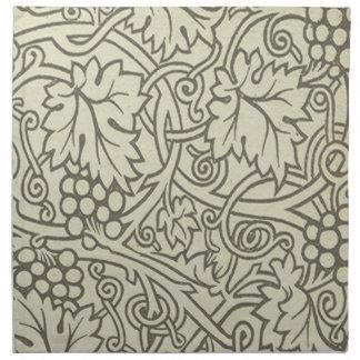 Weises Grün Grapevile William Morris Muster Stoffserviette