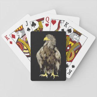 Weiß-Angebundene Spielkarten Eagles