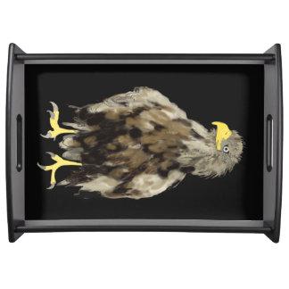 Weiß-Angebundener großer Behälter Eagles Serviertablett