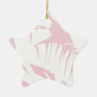 Weiß auf rosa tropischer Banane verlässt Muster Keramik Ornament