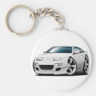 Weiß-Auto Nissans 300ZX Schlüsselanhänger