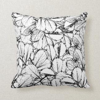 Weiß-Blätter Kissen