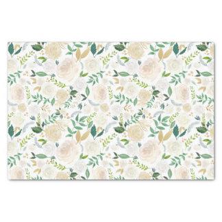 Weiß mit Blumen gemalt Seidenpapier