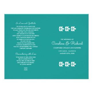 Weiß-Niederlassungsentwurf Hochzeits-Programme des Flyer