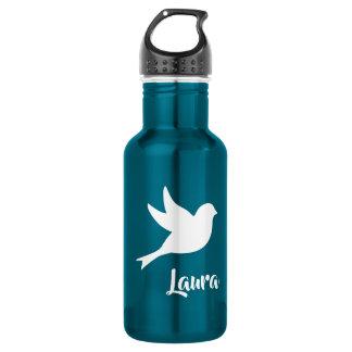 Weiß-Tauben-schönes Blau Edelstahlflasche