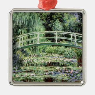 Weiß-Wasserlilien Claudes Monet |, 1899 Silbernes Ornament