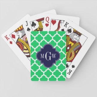 Weiße Anfangsmonogramm des Marokkaner-#5 der Spielkarten