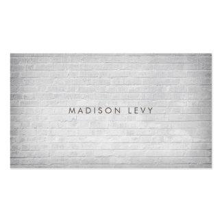 Weiße Backsteinmauer-unbedeutende Visitenkarten