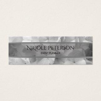 weiße Blumen - Ereignisplaner Mini Visitenkarte