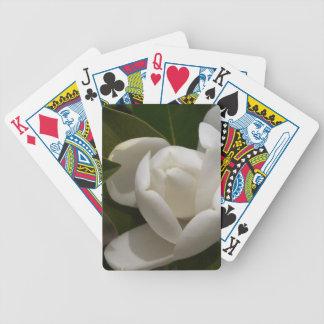 weiße Blumenknospe der südlichen Magnolie Bicycle Spielkarten