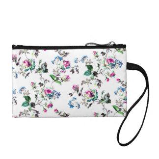 Weiße Blumenmünzen-Tasche