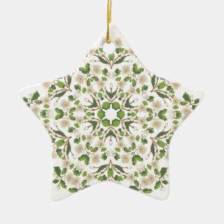 Weiße Blüte Ornament2 Keramik Ornament
