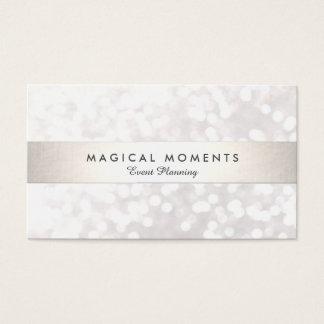 Weiße Bokeh Hochzeit und Event-Planer Visitenkarten