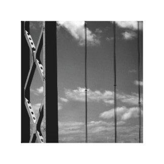 """Weiße Brücke des Schwarz-""""n"""" Galerie Faltleinwand"""