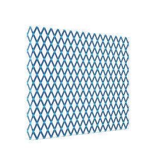 Weiße Diamant-Klassische blaue Rahmen wickelten Gespannter Galerie Druck