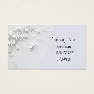 Weiße einfache Blume 3D entwarf Geschäfts-Karte Visitenkarten