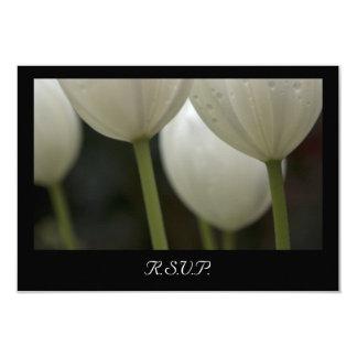Weiße Garten-Tulpe-Frühlings-Hochzeit UAWG Karte 8,9 X 12,7 Cm Einladungskarte