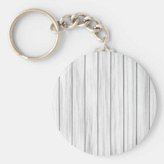 Weiße hölzerne Wandbeschaffenheit Standard Runder Schlüsselanhänger