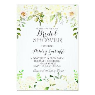 Weiße Hydrangea Duschen-Blumeneinladung, 12,7 X 17,8 Cm Einladungskarte