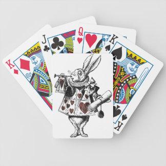 Weiße Kaninchen der Herzen - Alice im Wunderland Poker Karten