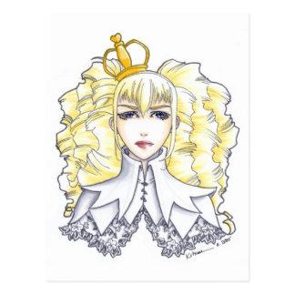 Weiße Königin Postkarte
