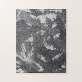 Weiße Kreide und schwarze Tinte Puzzle