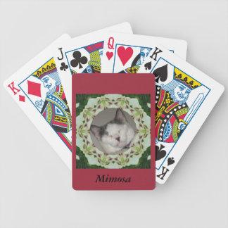 Weiße Lilien-Kaleidoskop-Foto-Rahmen Spielkarten