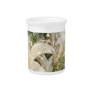 Weiße Lilien-Ostern-Kunst Krug