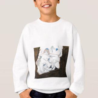 Weiße Löwen, die heraus schauen Sweatshirt