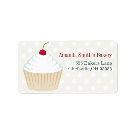 Weiße mattierte Kuchen-Adressen-Etiketten Adressaufkleber
