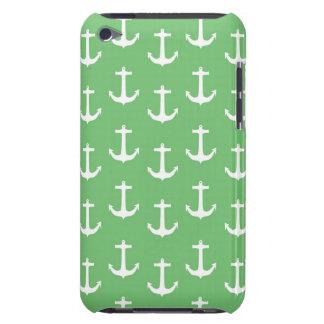 Weiße nautischanker gegen Limones Grün Barely There iPod Case