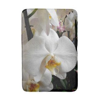 Weiße Orchidee Badematte