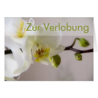 Weisse Orchidee • Glueckwunschkarte Verlobung Karte