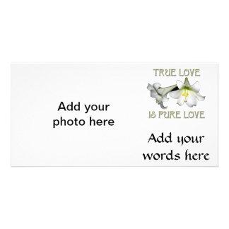 Weiße Osterlilien: Wahre Liebe ist reine Liebe Karte