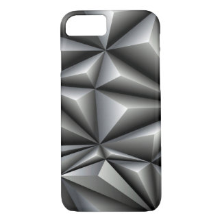Weiße Polygone iPhone 7 Hülle