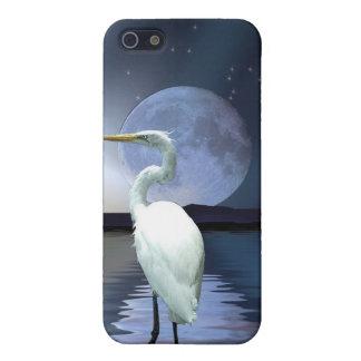 Weiße Reiher-u. Mond-wild lebende Tiere iPhone iPhone 5 Schutzhüllen