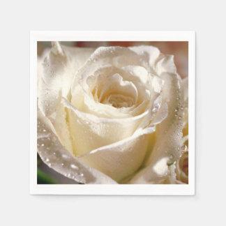 Weiße Rosen-Wedding Brautparty-Servietten Servietten