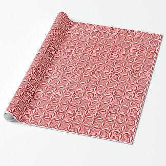 Weiße rote elegante abstrakte geometrische geschenkpapier