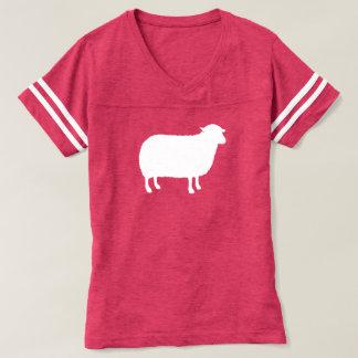 Weiße Schaf-Silhouette T-shirt