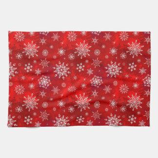 Weiße Schneeflocken Handtuch
